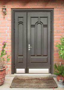 двухстворчатые двери в дом в мдф пд заказ