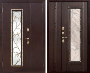 двери двухстворчатые с ковкой под заказ