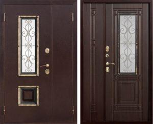 двери полторные с отдлҡо Мдф +стеҡло с ковой