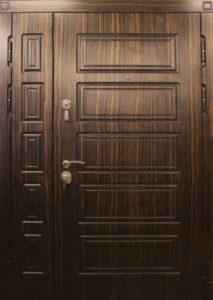 темный мдф дверь двухстворка