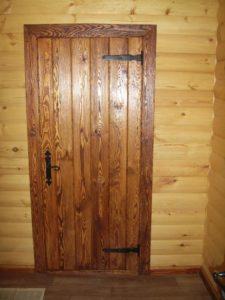 двери для дома с отделкой вагонка заказать