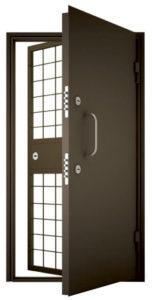 купить стальные двери в оружейную комнату с решеткой