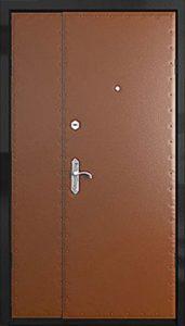 дверь в обивке двустворчатая