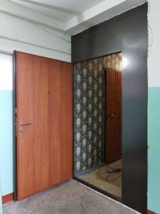 двери на лестничную площадку с отделкой порошковое напыление заказать