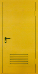 технические двери в порошке+вентиляция заводская