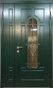 дверь металлическая Мдф со стеклом от производителя