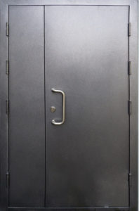 дверь двухстворчатая в порошковом напылении