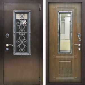 входные двери с фигурной ковкой +стеклопакт от производителя
