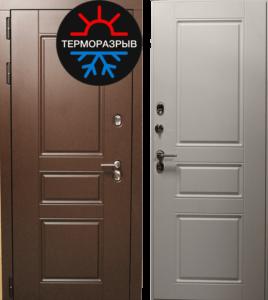 двери в шпоне в коттедж с терморазрывом