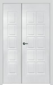 двери в дом двустворка Мдф