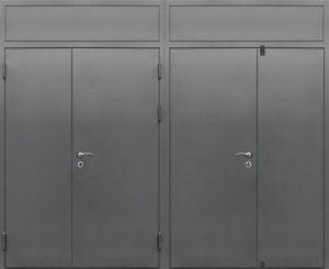 двери технические двупольные с верхней вставкой купить