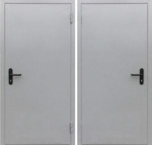 Дверь техническая порошковое напыление серая под заказ