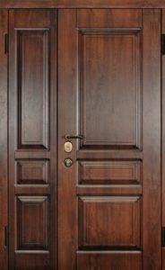 входные полторные двери с панелями Мдф заказать