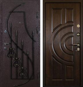стальные двери с ковкой порошҡовое напыление