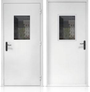 железные технические двери двупольные купить