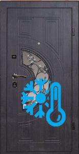 металлическая дверь шпон+стекло+термо от производителя купить