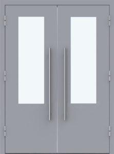 технические двупольные двери со стеклом купить
