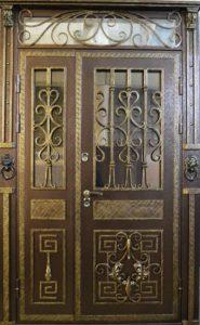 двери кованные со стеклом от производителя Москва