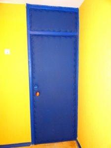 металлические двери на площадку коллективные +верхняя вставка под заказ