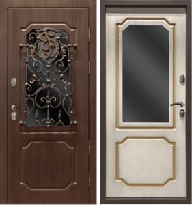 двери Мдф с ковкой+стекло под заказ