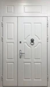 дверь двухстворчатая с врхне вставкой под заказ