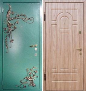 двери стальные уличные с ковкой Долгопрудный