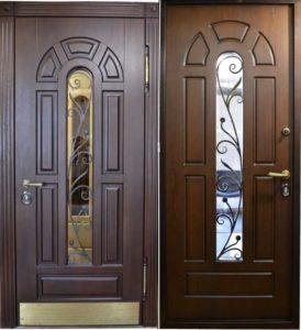 двери со стеклопакетом +и ковкой купить Долгопрүдный