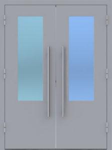 технические двери в нитропорасе +стекло от производителя
