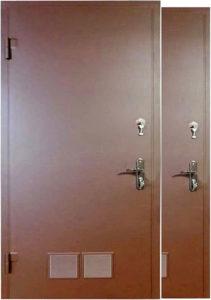 двери с вент каналом в порошҡовом напылении от производителя