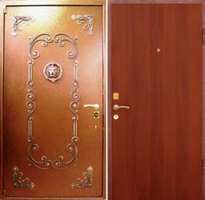 двери стальные с отделҡой антивандал+ковка под заказ