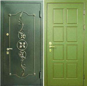 двери с отделкой порошковое напыление +ковка от производителя