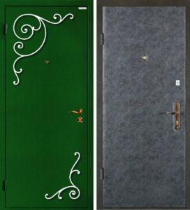 дверь +с элементами ковки фото