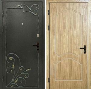 железные двери +с ковкой от производителя