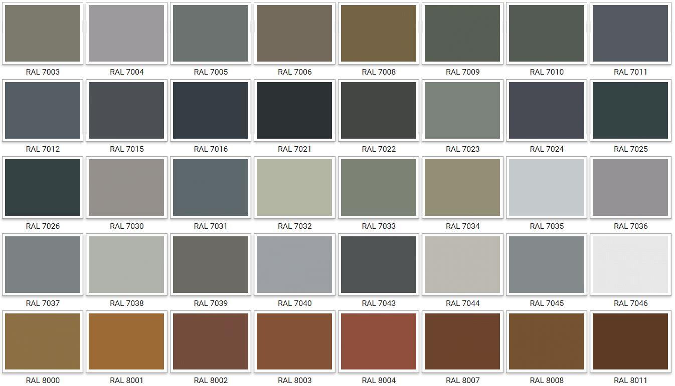 таблица цветов дверей с вентиляцией