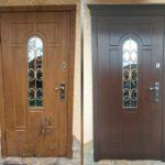 Реставрация панелей Мдф уличной двери